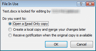 Excel file locked for editing